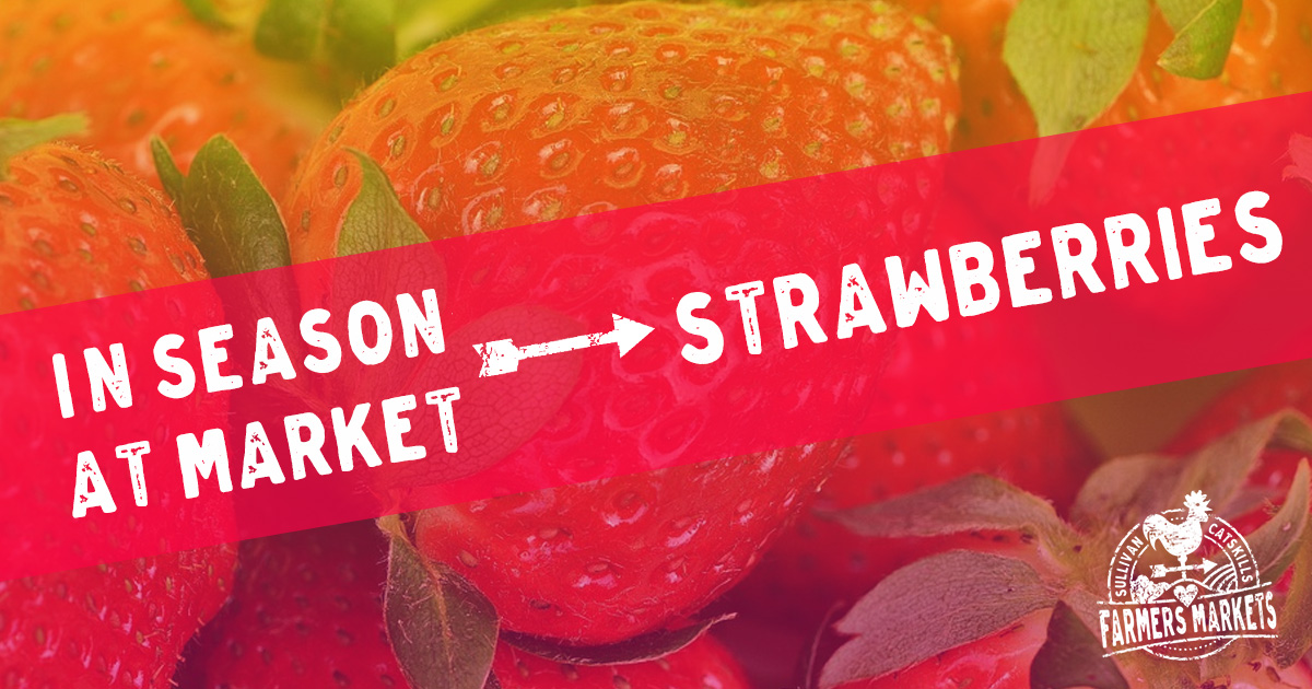 Find fresh strawberries at Sullivan County Farmers Markets