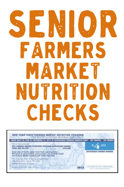 Senior Farmers Market Nutrition Checks in Sullivan County