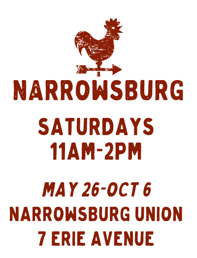 Narrowsburg NY Farmers Market 2018 Schedule